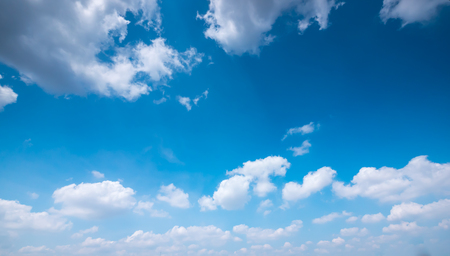 Clear and sunset sky  with cloud in summer