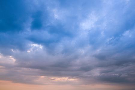 Storm cloud & rainy weather background Stock Photo