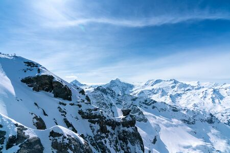 Titlis mountain in summer, Switzerland
