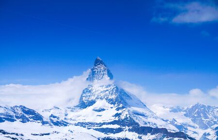 Top of the Matterhorn in Zermatt, Switzerland