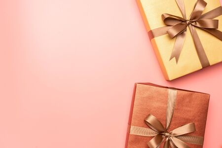 Pink gift box in the concept of love Stock fotó
