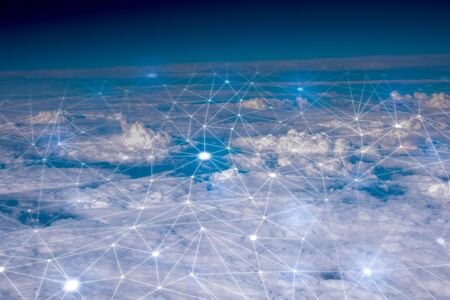 Network & cloud concept in the sky