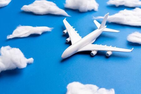 Airplane model for online ticket and tourism concept
