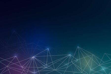 Cloud icon on abstract background illustration Stockfoto