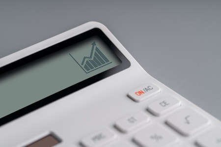 Online shopping & business icon on white calculator