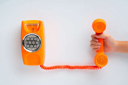 Vintage & retro telephone for contact us concept