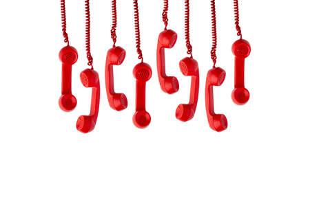 Vintage & retro telephone for call center concept