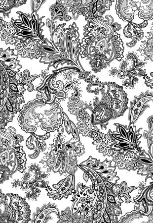 paisley wallpaper: ethnic motif