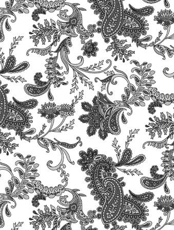 paisley: etnicznych włókienniczej Ilustracja