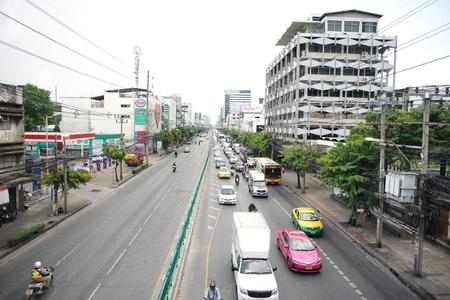 new petchaburi road bangkok thailand at noon the traffic is smoothly