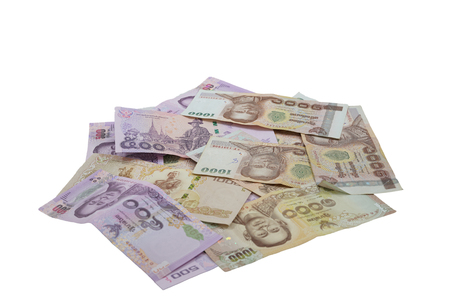 Thailand money currency is baht isolate Stock Photo