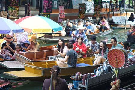 Amphawa Floating Market, Samutsongkram province, Thailand.