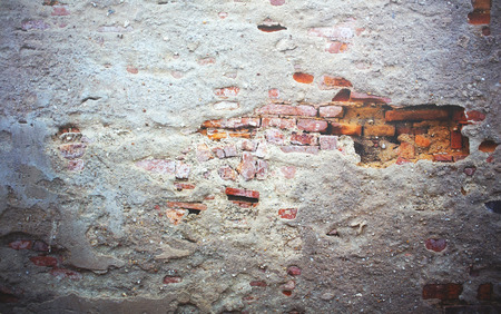 Color and texture of old brick wall background and texture