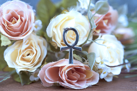 Ankh symbol is egyptian for life and immortality Banque d'images