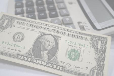 dollars money and calculator bor background