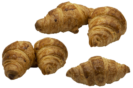 bakery croissant on wite background