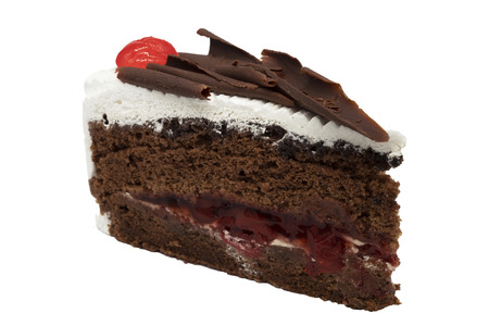 blackforest cake on white background