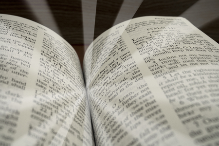 holy bible book open and white raduis for background and inspiration