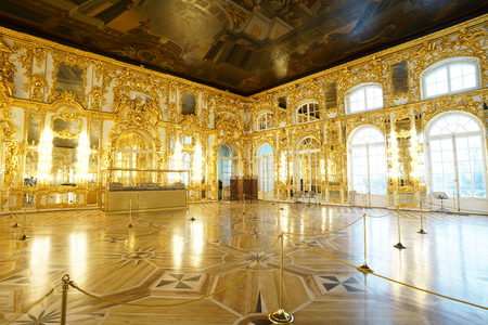 Ballroom in the Catherine Palace  St. Petersburg, Russia 6 December 2018 Editorial