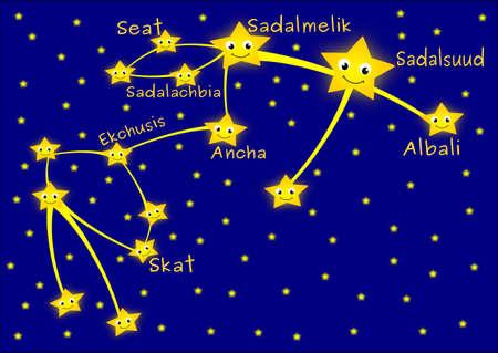 constelacion: Acuario de la constelaci�n