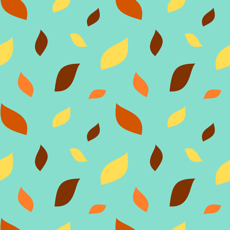 autumn leaves falling: autumn leaves falling season seamless vector pattern illustration
