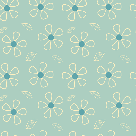 small articles: abstract romantic daisy flowers seamless pattern vector background illustration