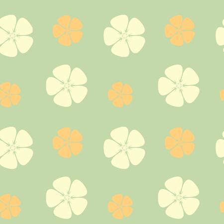 tahiti: abstract hibiscus flowers seamless pattern vector background illustration Illustration