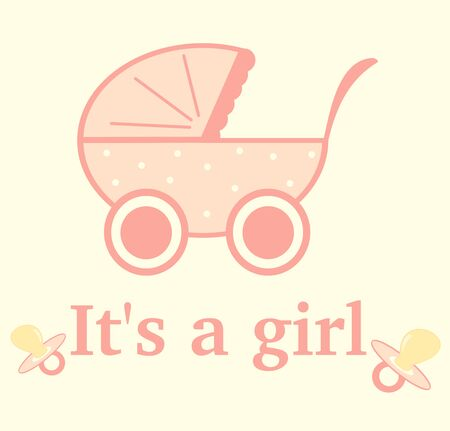 girl cute: Its a girl cute and lovely vector illustration for greeting card Illustration