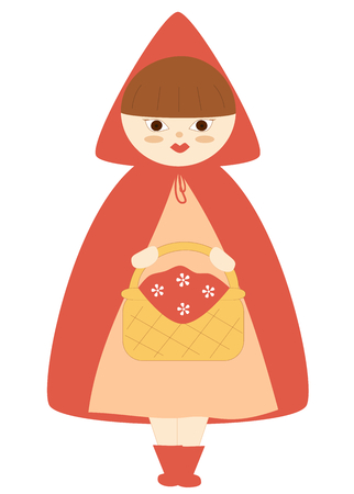 cartoon little red riding hood: cute little red riding hood cartoon vector illustration Illustration