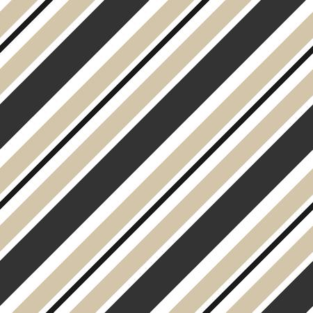 beige strepen en zwarte diagonale naadloze patroon vector achtergrond illustratie Stock Illustratie