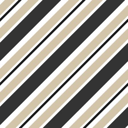 beige stripes and black diagonal seamless pattern vector background illustration
