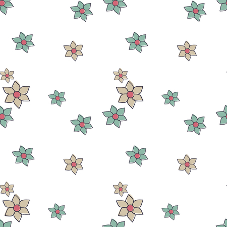 small articles: cute little lovely abstract flowers seamless pattern vector background illustration