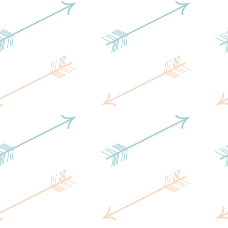 pastel colored: cute pastel colored pink blue vector seamless arrows pattern background illustration