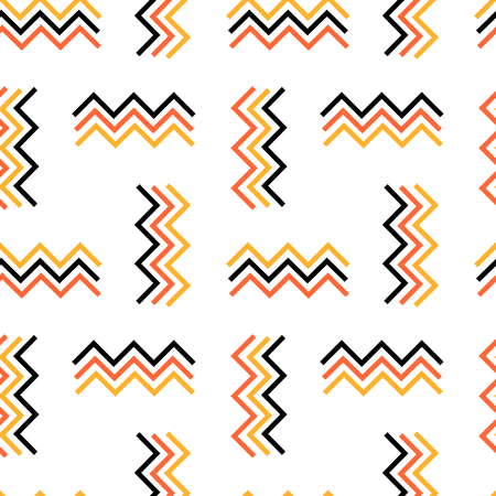 zig zag: abstract zig zag colorful seamless pattern vector background illustration Illustration
