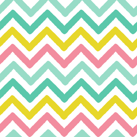 zag: colorful zig zag stripes grunge vector pattern background seamless illustration Illustration