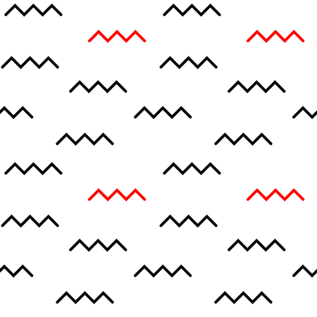 zag: black red zig zag abstract seamless vector background pattern illustration Illustration