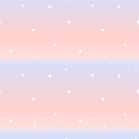 natures: cute pink and blue seamless pattern illustration background with little white stars Stock Photo