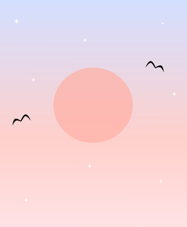 romantic: romantic sunset background illustration