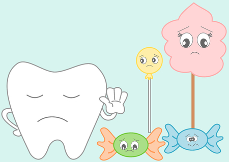 food hygiene: Tooth versus candies