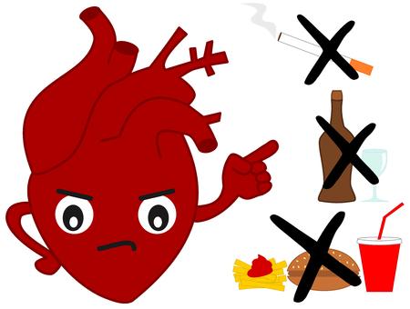bad habits: corazón humano frente a los malos hábitos de dibujos animados