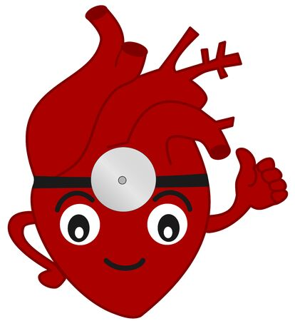 medical emergency: the doctor heart funny cartoon illustration Stock Photo