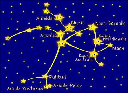 constelacion: constelación de Sagitario Foto de archivo