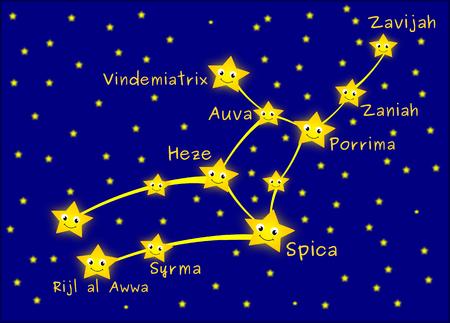 constelacion: constelación de Virgo