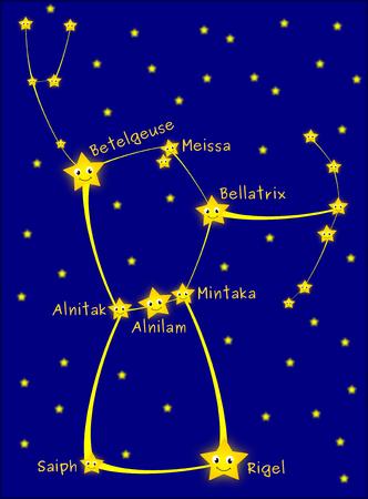 constelacion: Constelaci�n de Ori�n Foto de archivo