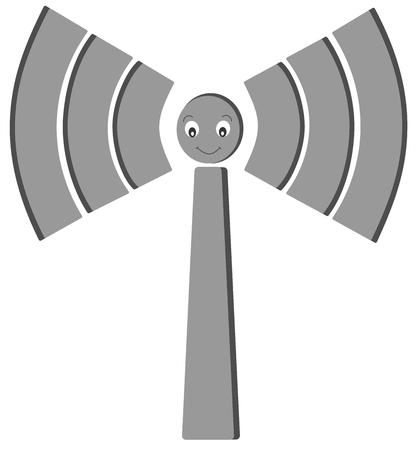 wireless signal: Wireless signal icon cute cartoon illustration
