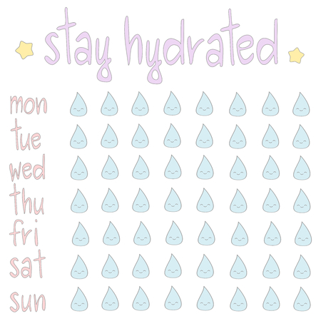 comunity: vector skin stay hydrated printable planner