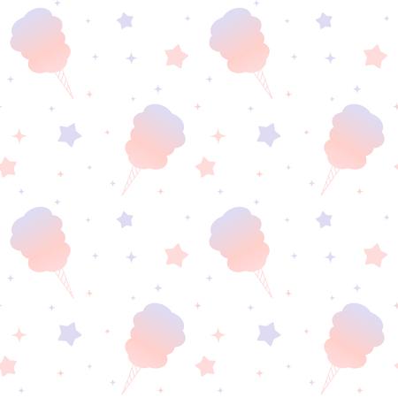 かわいい漫画紫やピンクの綿飴がシームレスな背景パターン図 写真素材