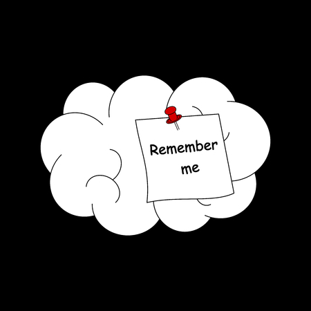 remember me concept vector illustration with human brain