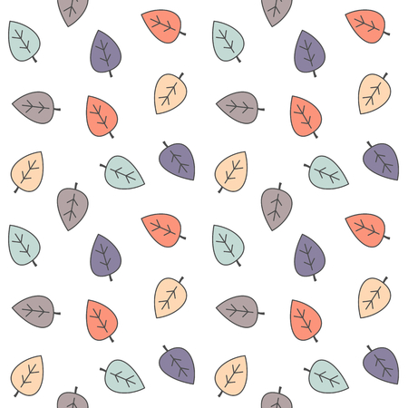 colorful leaves seamless vector pattern background illustration