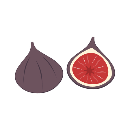 Fresh figs isolated on a white background
